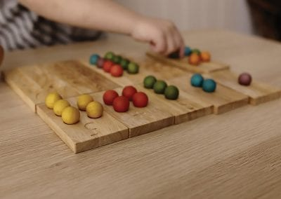 wooden number counting board