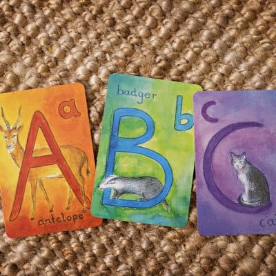 Waldorf Alphabet Cards- Capitals / Educational games