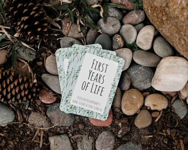 First Years of Life / Sensory Play Prompt Cards / Mindful Parenting