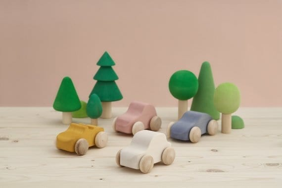Wooden Trees green - nature