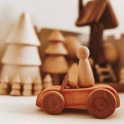 Debresk Wooden Toy Sports Car / Natural Toy