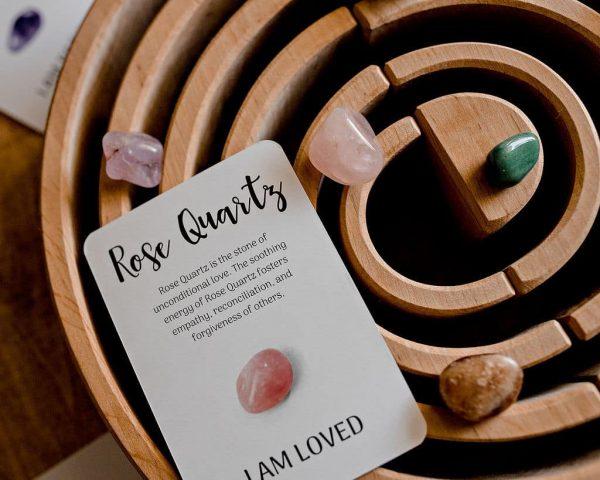 Rose Quartz / Crystal Energy / Affirmations / I am Loved