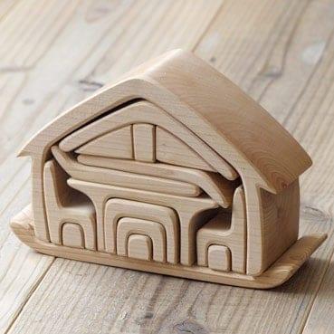 Gluckskafer / All in One House / Waldorf Toy / Steiner Toy / Wooden Blocks / Growing Kind
