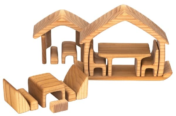 Gluckskafer / All in One House / Waldorf Toy / Steiner Toy / Wooden Blocks / Growing Kind / Doll House Furniture