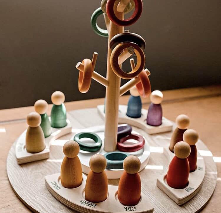 Grapat Wooden Toy Perpetual Calendar Grapat Calendar Steiner