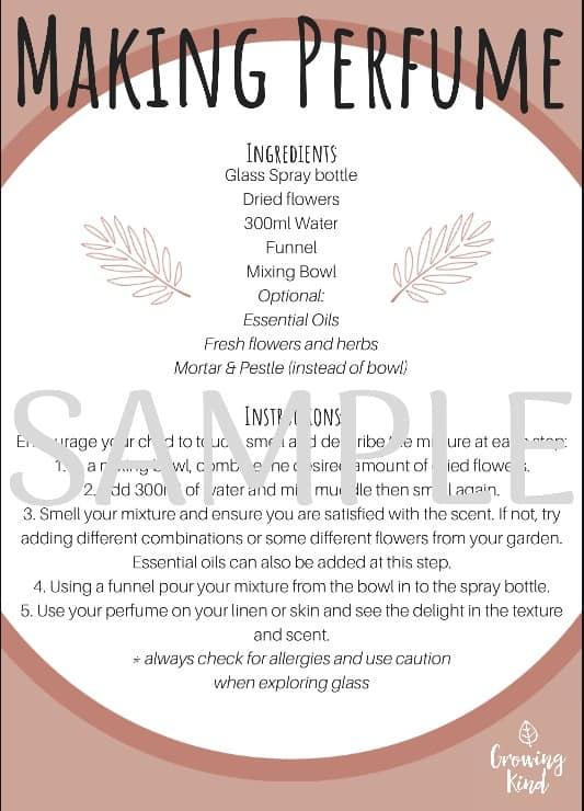 Mindful Perfume / Potion Mixing Kit / Mindfulness for Kids / Mindful Meditation / Perfume Recipe Card / make your own perfume