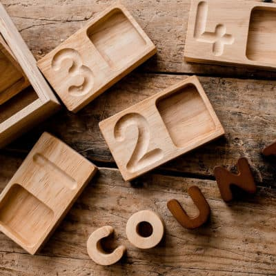 Montessori Counting and Writing Trays