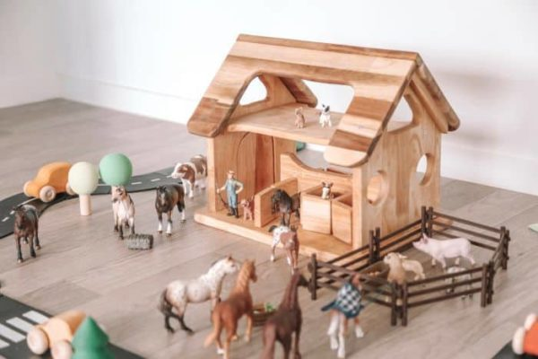 Wooden Horse Stable for playing