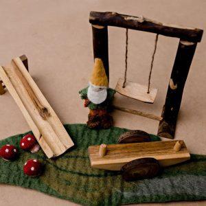 Wooden Doll Playground Set