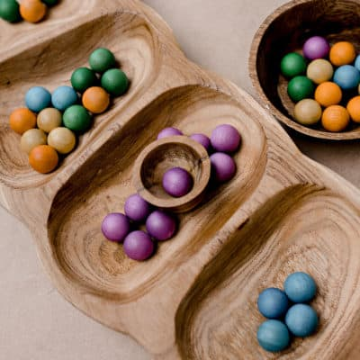 colorful Wooden Marbles