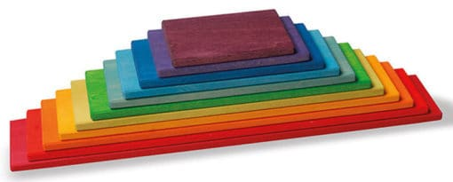 Rainbow Building Boards for kids
