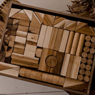 wooden blocks set for kids
