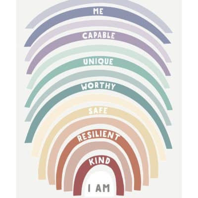 Growing Kind Rainbow affirmations