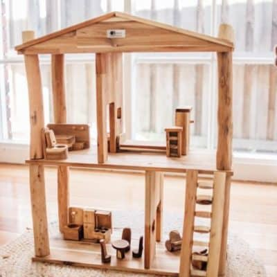 wooden Eco Doll House