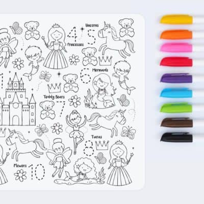 Reusable coloring Mat and Markers