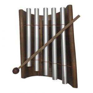 Bamboo & Metal Xylophone kids toy