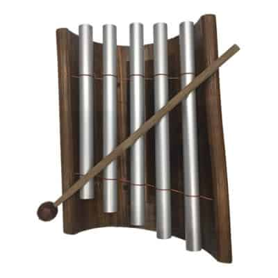 Bamboo & Metal Xylophone kids toy