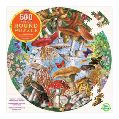 Mushroom and Butterflies puzzle