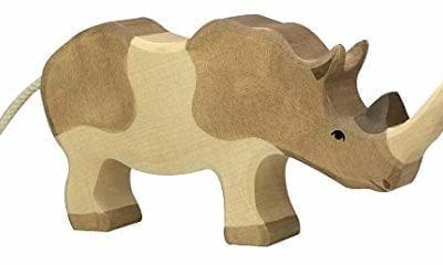 wooden playing toy rhinoceros