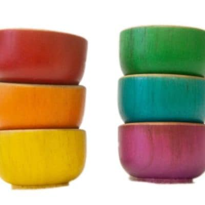 Rainbow Sorting Bowls for kids