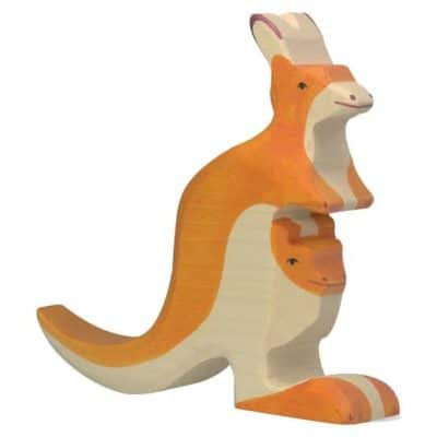 wooden animal kangaroo