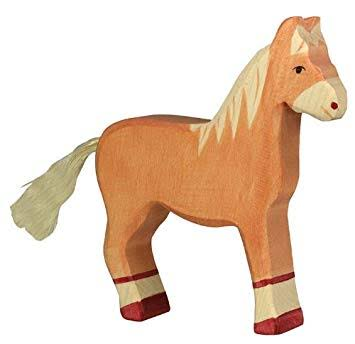 wooden playing toy horse