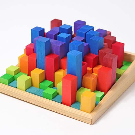 Grimm's 100 Stepped Blocks