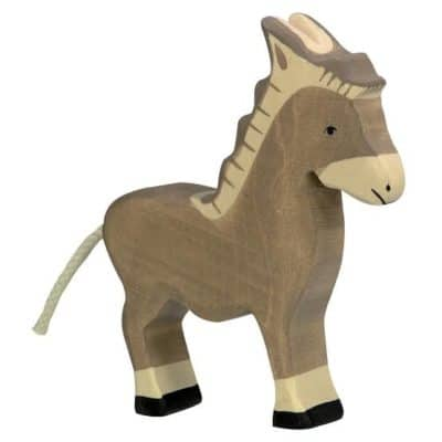 wooden playing toy donkey