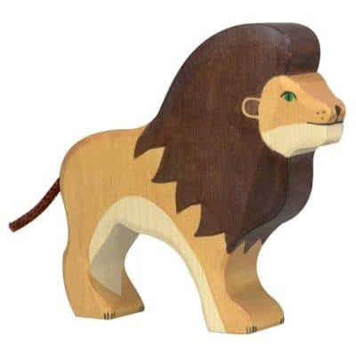 wooden playing toy loin