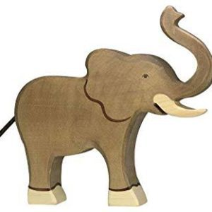 wooden playing toy elephant
