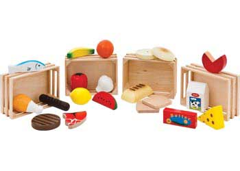 Wooden Food playing set