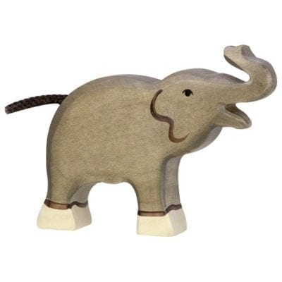 Wooden Elephant Calf