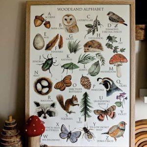Woodland Alphabet Chart