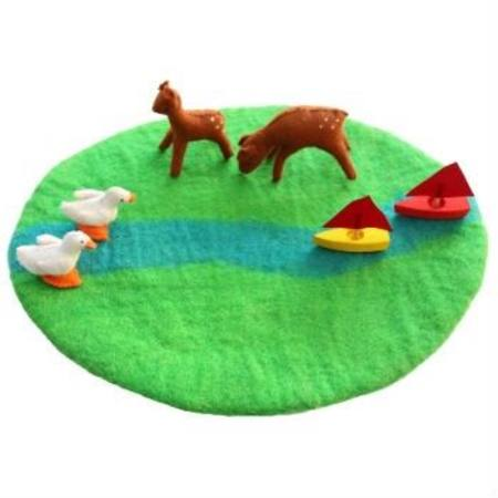 meadow and river Wool Play Mat