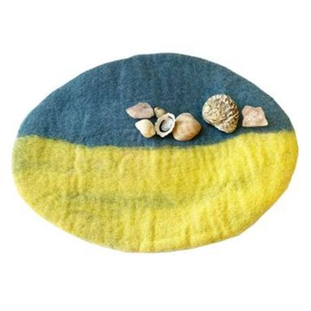 Summer Beach Wool Play Mat