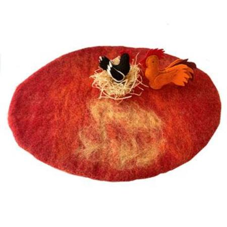 Reversible Felted Wool Play Mat