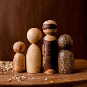 wooden people