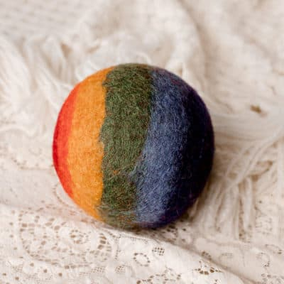 Rainbow Felt Ball for kids