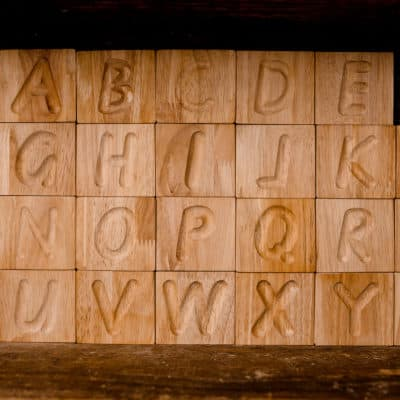 Uppercase Letter Tiles and Tray