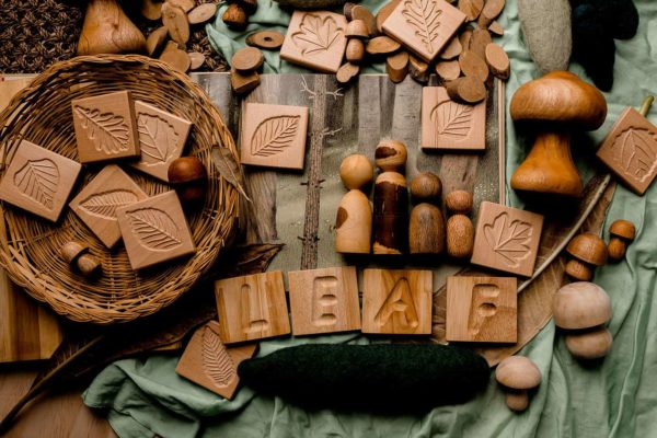Montessori Uppercase Letter Tiles and Tray