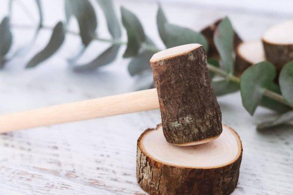 wooden log Hammer