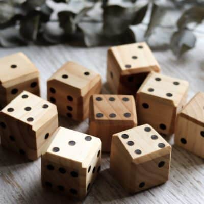 Wooden Chunky Dice