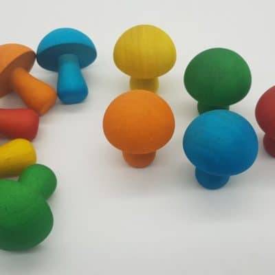 Wooden Coloured Mushrooms