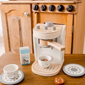 wooden coffee machine for home corner