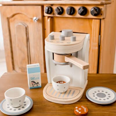 wooden coffee machine for home corner