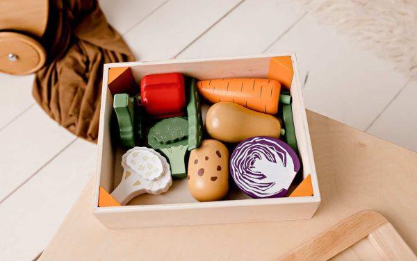 Wooden Vegetable Crate / Vegan / Home Corner / Play food