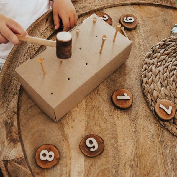 log Hammer wooden toys
