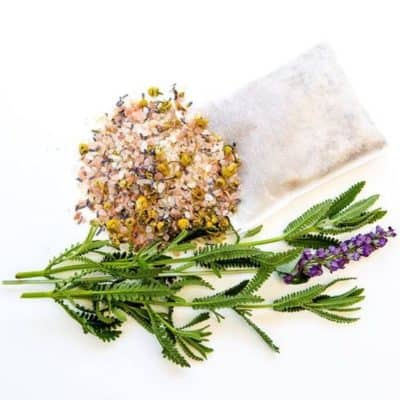 Laveder bath soak tea
