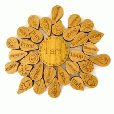 Wood Mandala Affirmation Puzzle
