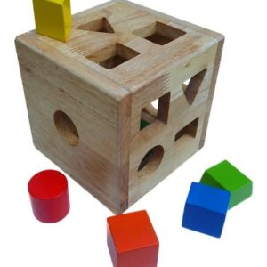 Coloured Sorting Box wooden toys